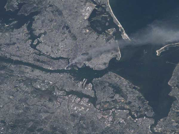 View of New York City on 9/11/01 from the International Space Station
