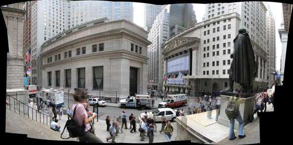 "Panorama of ""the Corner"" today. (via flickr.com)"