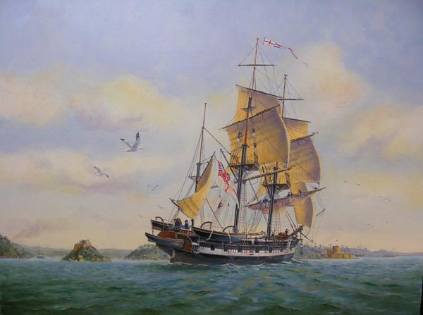 Charles Darwin's five-year voyage on H.M.S. Beagle has become legendary, as insights gained by the bright young scientist on his trip to exotic places greatly influenced his masterwork, the book On the Origin of Species.  Darwin didn't actually formulate his theory of evolution while sailing around the world aboard the Royal Navy ship. But the exotic plants and animals he encountered challenged his thinking and led him to consider scientific evidence in new ways.  (via about.com)