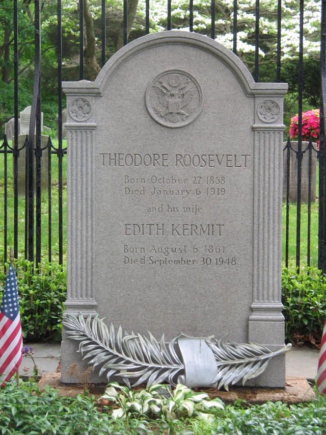 Roosevelt's Grave in Youngs Memorial Cemetery Oyster Bay, New York