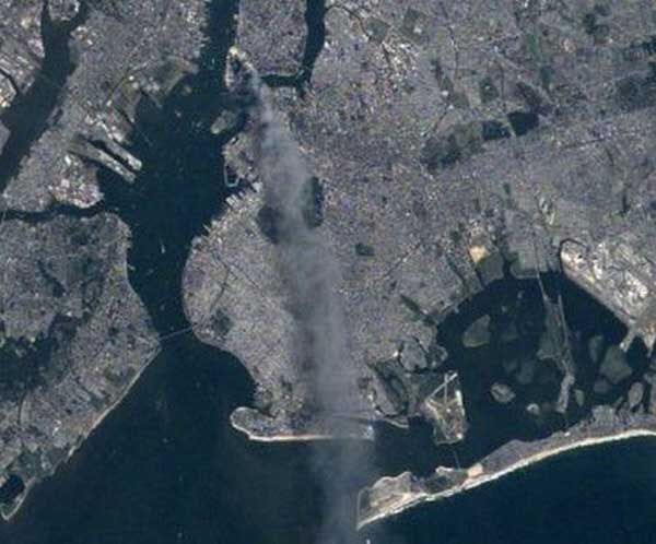 Shiftign winds move the smoke plume into Brooklyn and Long Island.