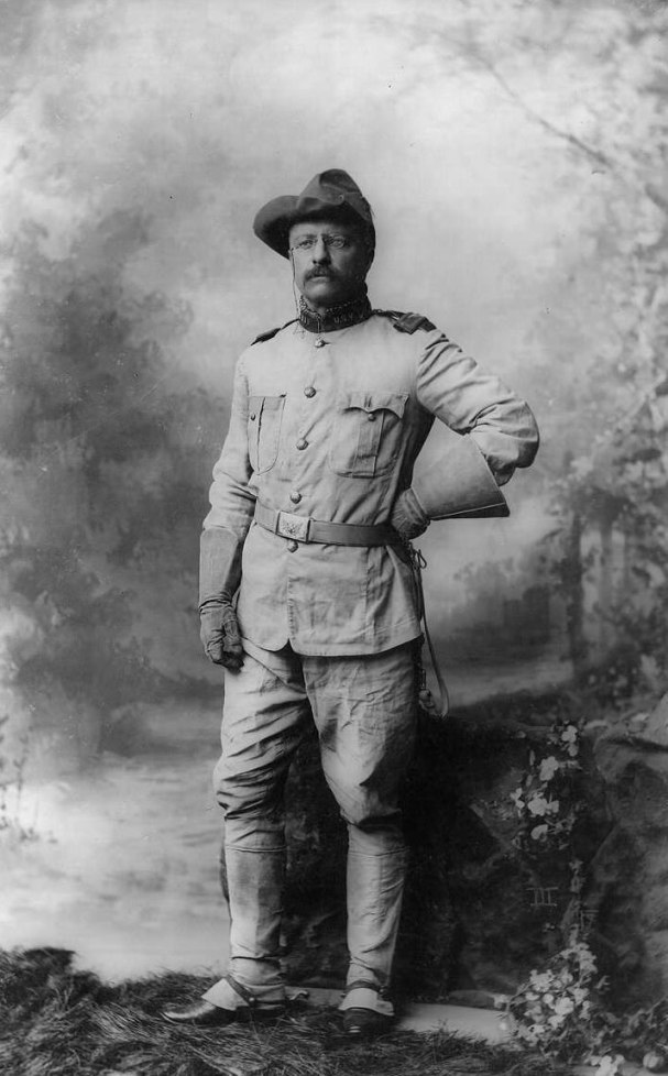 Theodore Roosevelt in military uniform, 1898